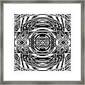 Mystical Eye - Abstract Black And White Graphic Drawing Framed Print