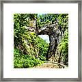 Natural Bridge Framed Print