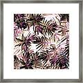 Nature Abstract In Pink And Brown Framed Print