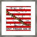 Navy Jack Flag - Don't Tread On Me Framed Print