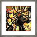 Ned Kelly Gang Art - Smiling Horse And Rider Framed Print