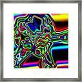 Neon Iris Framed Print