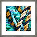 Nets And Knots Number Five Framed Print by Elena Nosyreva