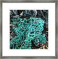 Netting And The Sea Framed Print