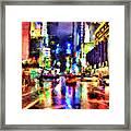 New York At Night - 14 Framed Print