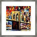 New York Brookyln Bridge Framed Print