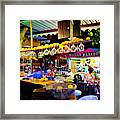 Night At Bar Framed Print