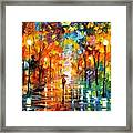 Night Mood In The Park Framed Print