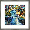 Night River Framed Print