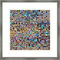 Nine Hundred And One Hearts Framed Print by Boy Sees Hearts