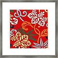 Nishike Brocade With Paulownia Arabesque Framed Print
