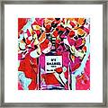 No 5 Pink Colored Framed Print