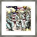 No Mexican Wall, Mister Trump - Political Cartoon Framed Print