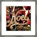 Noel Ornament Framed Print