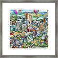 Northern Virginia Map Illustration Framed Print
