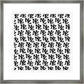 Nz New Zealand Black On White Framed Print