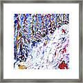 Off Piste In The Woods Above Morzine Framed Print