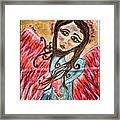 Oil Pastel Angel Framed Print