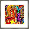 Oily Abstract Framed Print