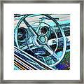 Old Car Wheel Framed Print