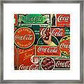 Old Coca-cola Sign Collage Framed Print