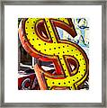 Old Dollar Sign Framed Print