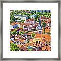 Old Ljubljana Cityscape Aerial View Framed Print