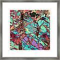 Olivine Marble Framed Print