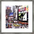 On Broadway New York Framed Print