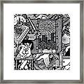 Only I Keep Watch Sleepy Listening Framed Print