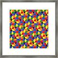 Open Hexagonal Lattice I Framed Print