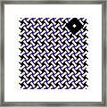 Optical Illusion Purple Black Flag 4. Framed Print