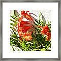 Orange Trumpet Flowers At Pilgrim Place In Claremont-california  Framed Print