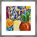 Orange Iris Framed Print