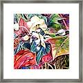 Orchids In White Framed Print