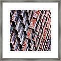 Ore Dock Rust Framed Print