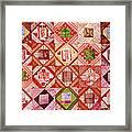 Oriental Patchwork Tapestry Framed Print