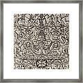 Ornament Panel: Mars, God Of Battles Framed Print