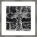 Ornate Cross 3 Bw Framed Print