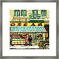 Oscar 's Candy Store Montreal Framed Print