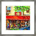 Outdoor Cafe On St. Denis In Montreal Framed Print