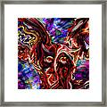 Owl Colors Wild. Framed Print
