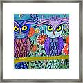 Owl In The Family Framed Print