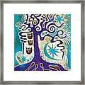 Owls In A Summer Tree Framed Print