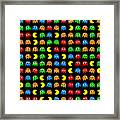 Pacman Seamless Generated Pattern Framed Print