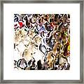 Paint Drippings Framed Print