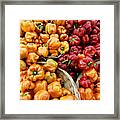 Painterly Peppers Framed Print