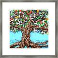 Painters Palette Of Tree Colors Framed Print