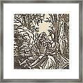 Pair Of Lovers In A Landscape Framed Print