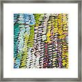 Palette. Colorful Painter Palette. Exhausted Paint And Abstract Painting. Framed Print